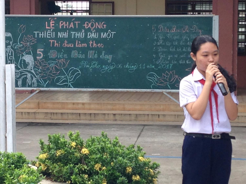 THCS Nguyễn Thị Minh Khai: Thiếu nhi Thủ Dầu Một thi đua làm theo 5 điều bác hồ dạy